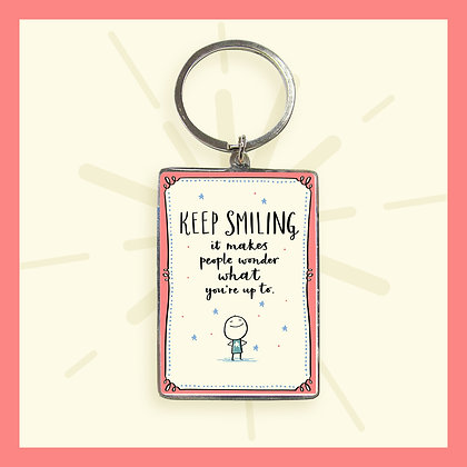 Keep Smiling Keyring