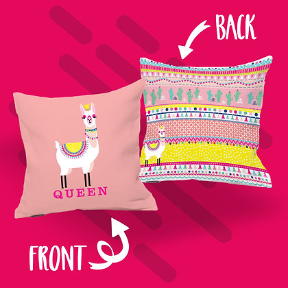 Llama Queen Cushion