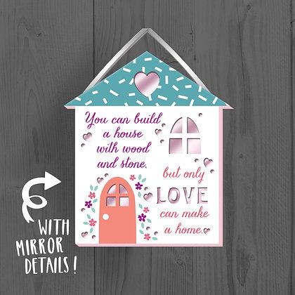 Home Love, Wooden Plaque