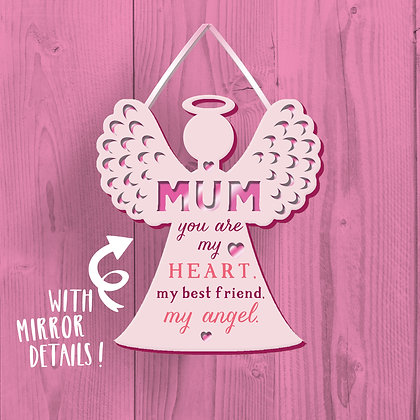 Mum My Angel Wooden Plaque
