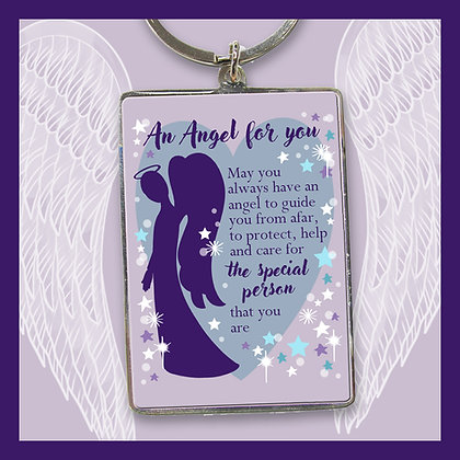 An Angel For You Keyring