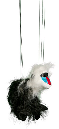 Baby Mandrill Baboon Marionette Puppet - Sunny Toys