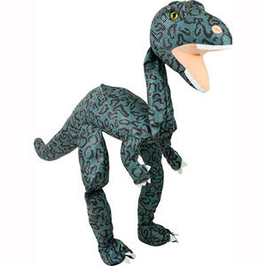 Forest Green Dino 38in - Large Marionette Puppet
