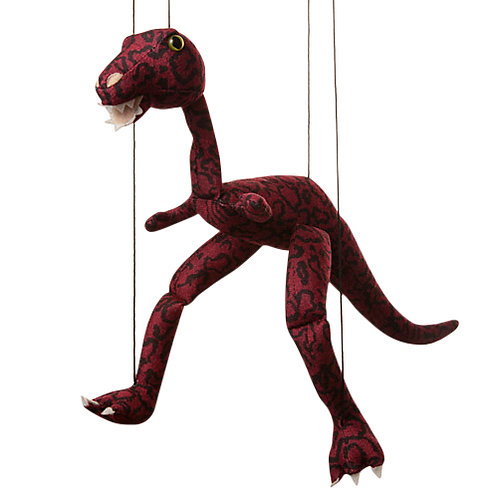 Baby Dino (Burgundy) Marionette Puppet - Sunny Toys