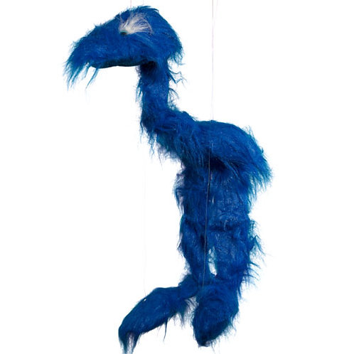 Blue Jingle Bird 38in - Large Marionette Puppet