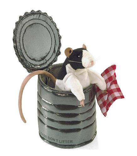 Rat in TinCan Hand Puppet - Folkmanis