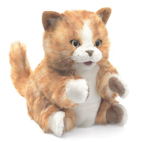 Orange Tabby Kitten Hand Puppet - Folkmanis