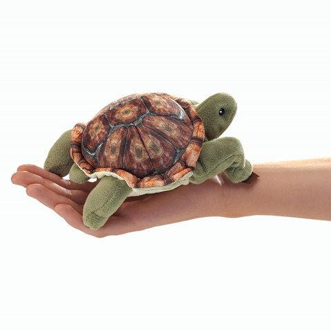 Mini Tortoise Finger Puppet - Folkmanis