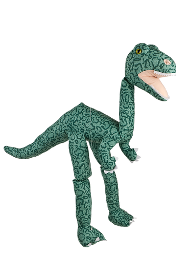 Green Dino 38in - Large Marionette Puppet