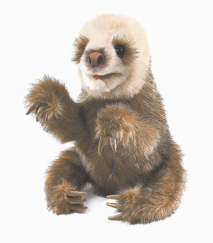Baby Sloth Hand Puppet - Folkmanis