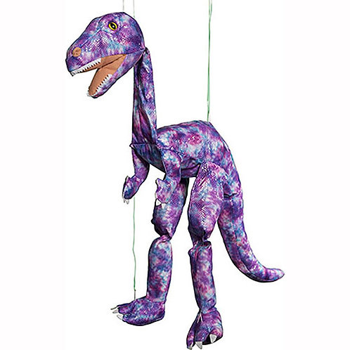 Purple Dino 38in - Large Marionette Puppet