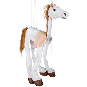 White Pegasus 38in - Large Marionette Puppet