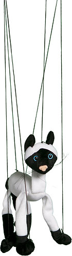 Baby Siamese Cat Marionette Puppet - Sunny Toys