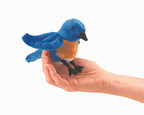 Mini Bluebird Finger Puppet - Folkmanis