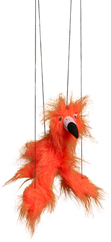Baby Flamingo (Orange) Marionette Puppet - Sunny Toys