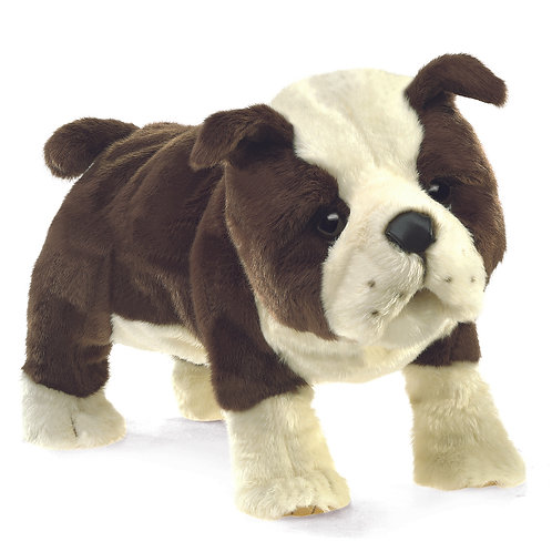English Bulldog Puppy Hand Puppet - Folkmanis