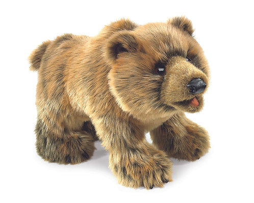 Grizzly Bear Hand Puppet - Folkmanis