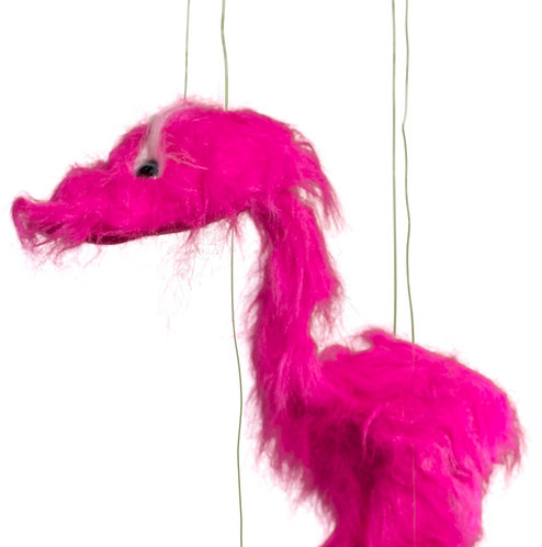 Pink Jingle Bird 38in - Large Marionette Puppet