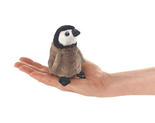 Mini Baby Emperor Penguin Finger Puppet - Folkmanis