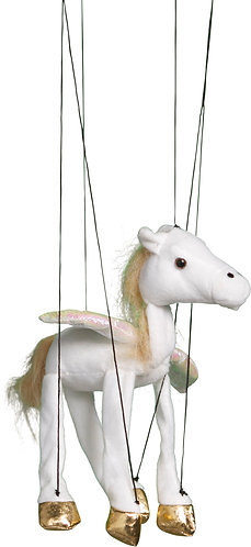 Baby Pegasus (White) Marionette Puppet - Sunny Toys