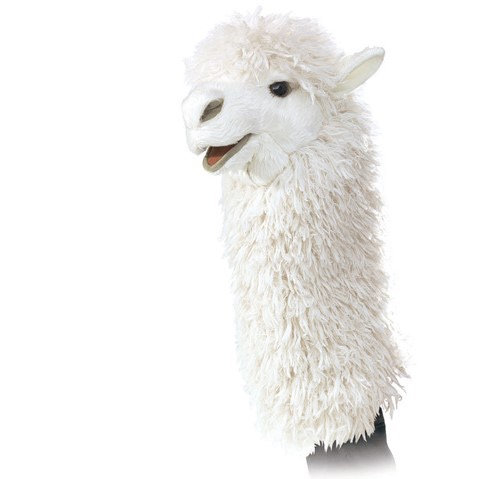 Alpaca Stage Hand Puppet - Folkmanis