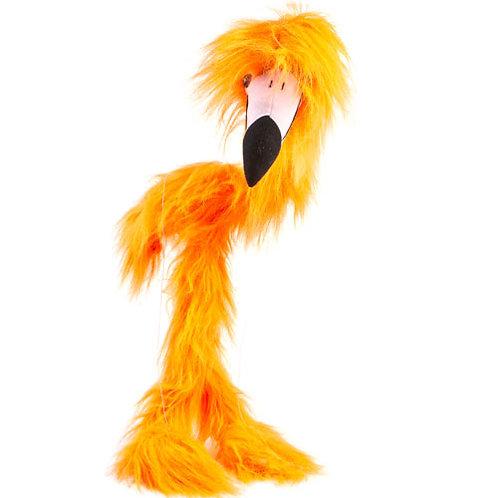 Orange Flamingo 38in - Large Marionette Puppet