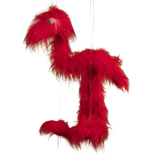 Red Jingle Bird 38in - Large Marionette Puppet