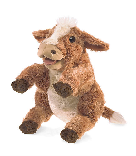 Brown Cow Hand Puppet - Folkmanis