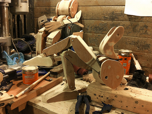 Wood Puppet Legs and Torsos