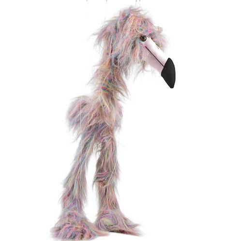 Rainbow Flamingo 38in - Large Marionette Puppet