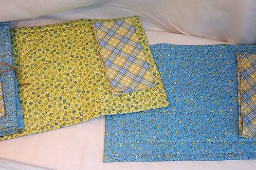 Yellow & Blue Place-mats & Napkins