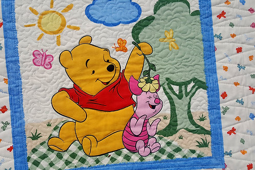 Pooh Panel Baby Quilt