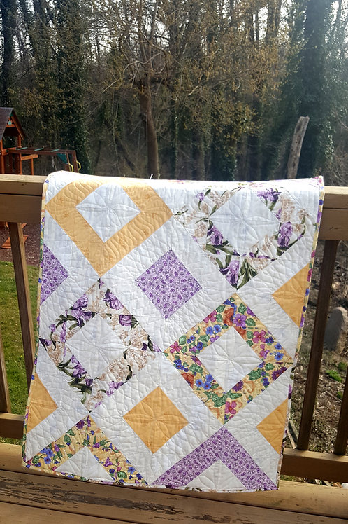 Baby Quilt Flowers and Squares