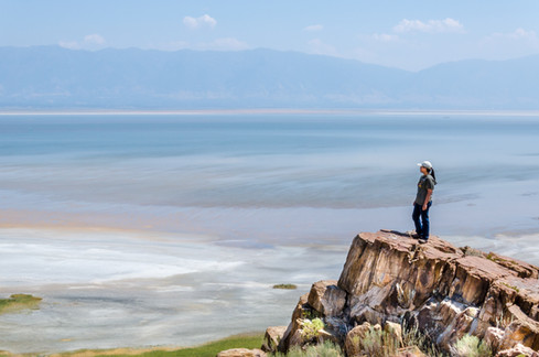 Len overlooking Salt Lake