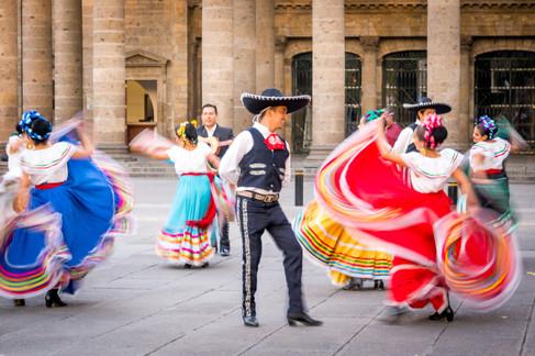 Street dancers in Tequila, MX