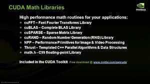 NVIDIA CUDA Math Libraries
