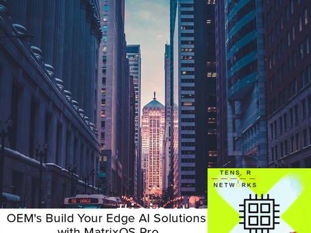OEM's Build your Edge-AI Solutions with MatrixOS Pro