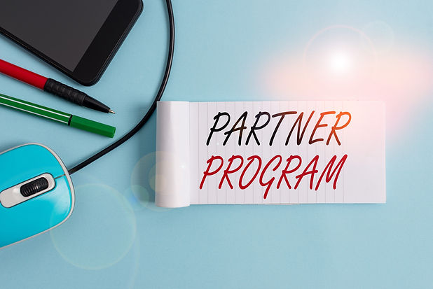 Text sign showing Partner Program. Conce