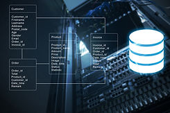 Database table with server storage and n