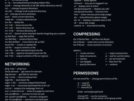 Basic Linux Commands for Reference