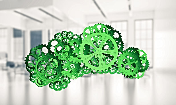 Cloud computing and networking shown lik