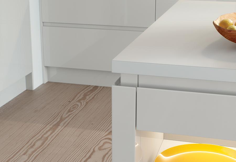 Light Grey Gloss J-Profile