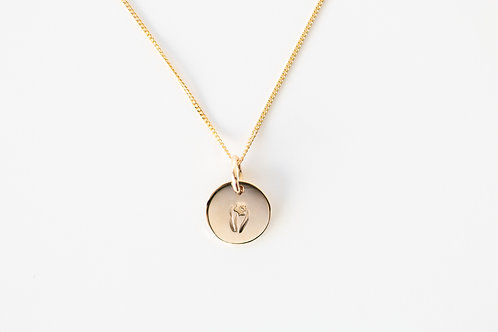Daffodil Pendant - 9ct Yellow Gold