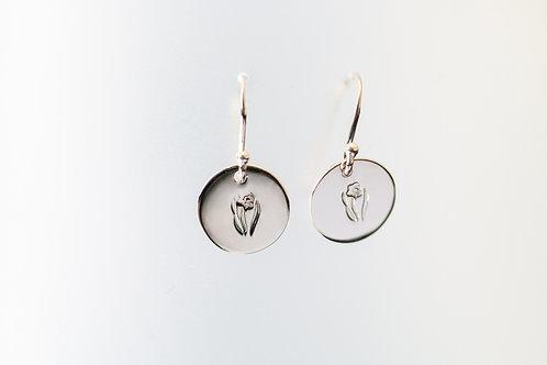 Daffodil Earrings - Stirling Silver