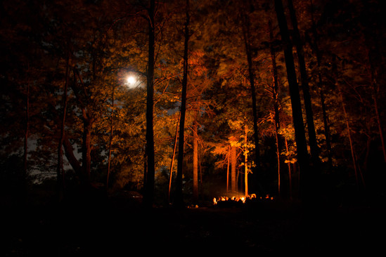Fireside under the Moon