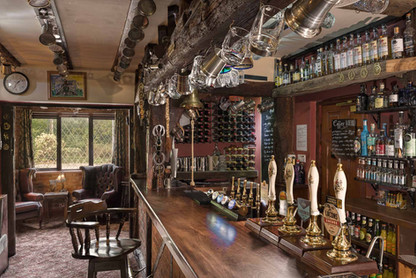 Traditional beamed bar