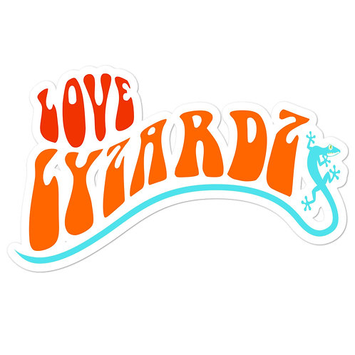 Love Lyzardz Logo Bubble-Free Stickers