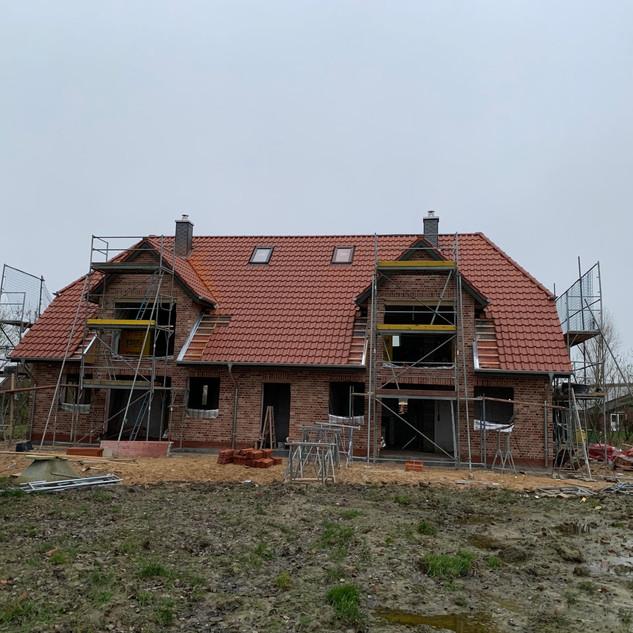 Neubau Tonziegel Dachfenster Dachfenstereinbau