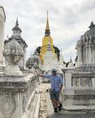 Wat Suan Dok - templo do jardim florido.