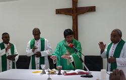 Apostolic Nuncio at the Eucharistic cele